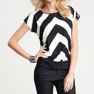 Ann Taylor Chevron top